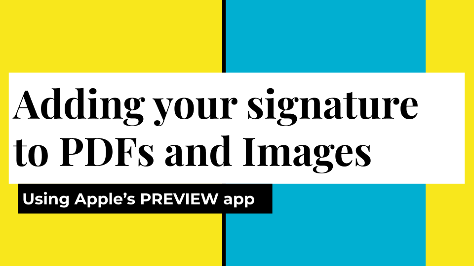 App of the Month:  Digitally Sign Documents with Apple's Preview