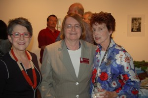 Alumna and SOTA Council member Mary Johnson, Dean Valerie Morris, and Left Coast Writer Mary Brent Cantarutti