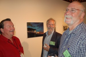 Studio Art Chair John Hull, Historic Preservation and Community Planning Director Robert Russell and Left Coast Writer Gary Fuller