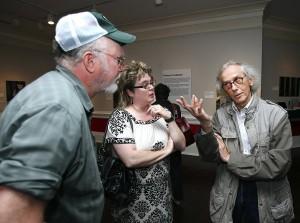 Christo with John Hull and Marian Mazzone