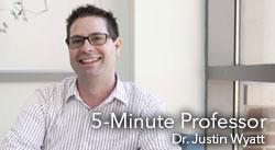 5 Minute Professor: Dr. Justin  Watt