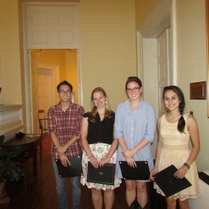 2014 Outstanding Seniors in Political Science