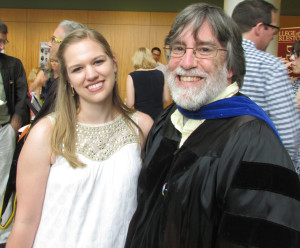Graduating Political Science major with Dr. John Creed