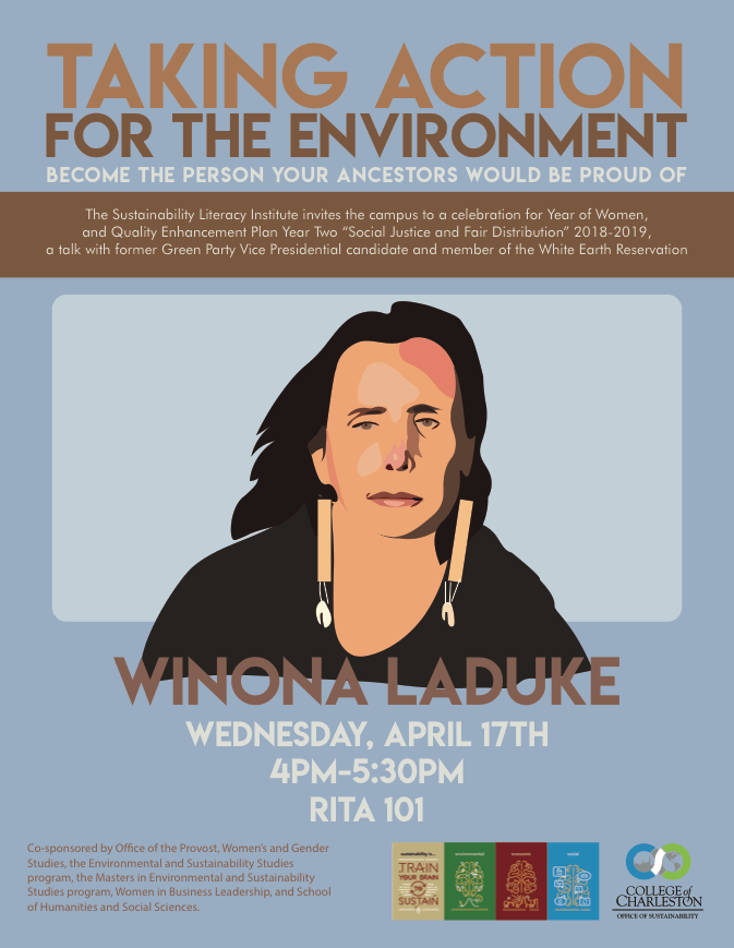 Taking Action for the Environment with Winona LaDuke Flyer
