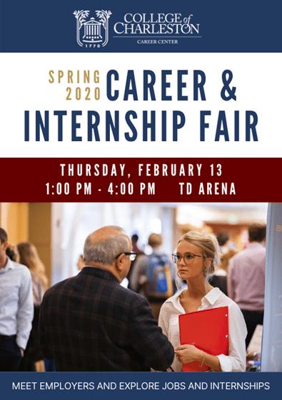 career and internship fair flyer
