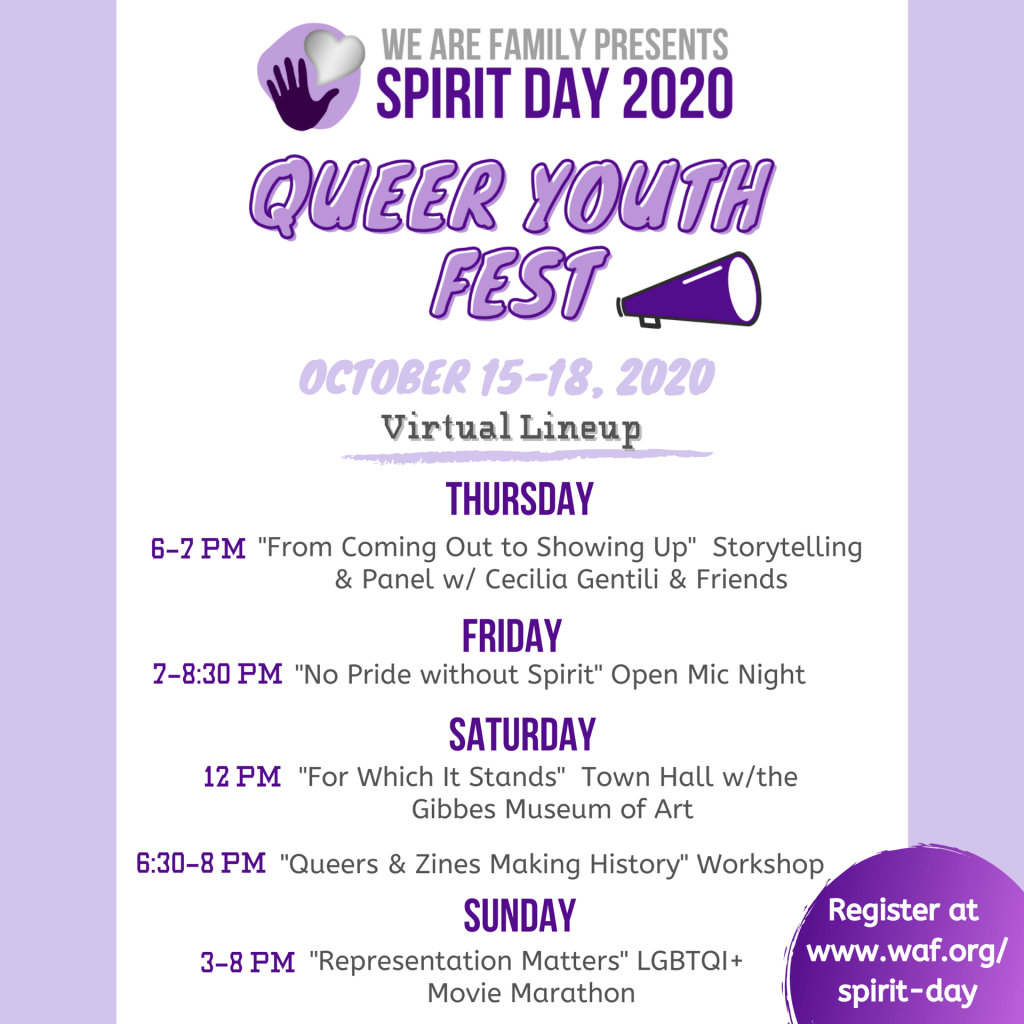 Queer Youth Fest Lineup (text reproduced below)