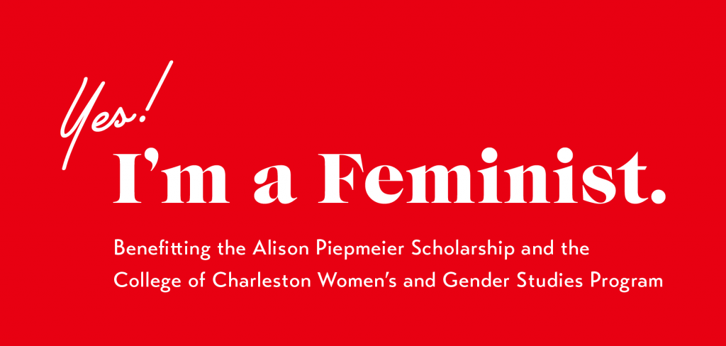 YES! I'm a Feminist Banner in Red