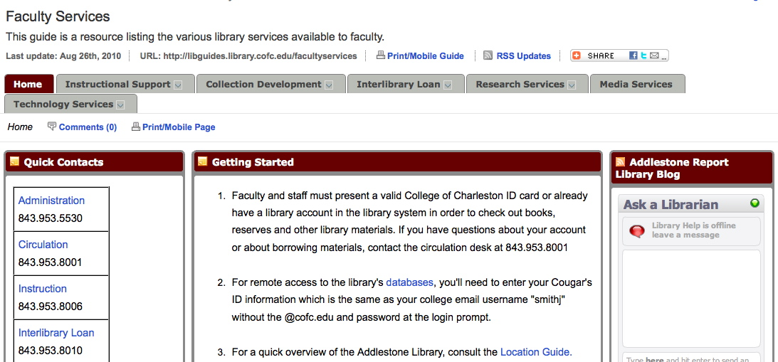faculty services guide