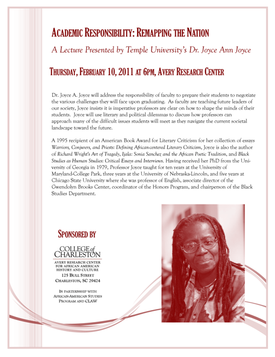 Academic Responsibility: Remapping the Nation Lecture Flyer
