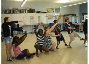 Students integrating science concepts through dance