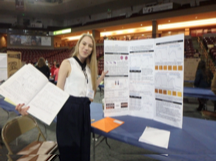 Anna at her LRSEF Poster