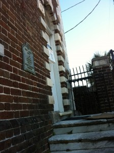 Historic Charleston Foundation, who hold easements for the house, have placed a plaque with the circa construction date on the front of the house.