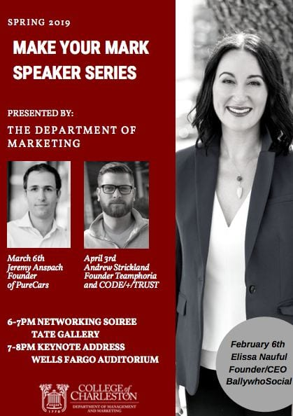 Make Your Mark Speaker Series Spring 2019 Flyer