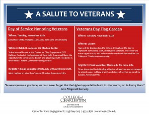 A Salute to Veterans Flyer