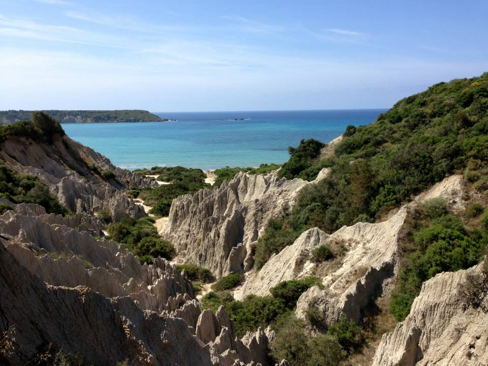 A sunny beach in Greece