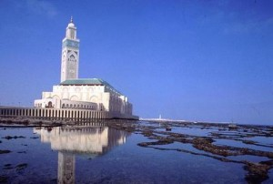 The Hassan II Mosque in Casblanca-Hotel View
