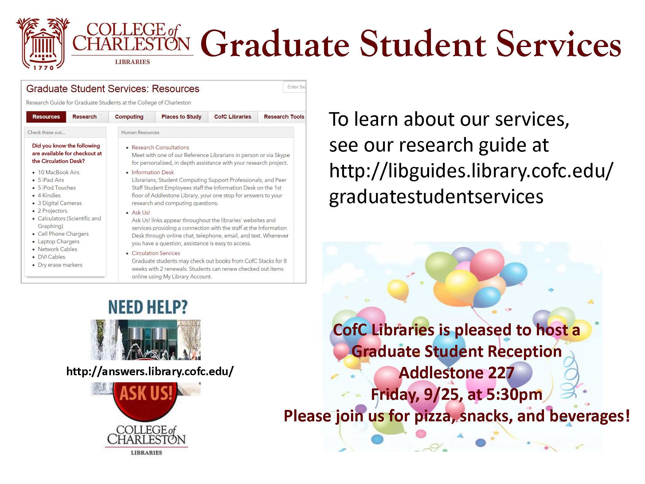 » Graduate Student Library Reception- September 25, 2015 ...