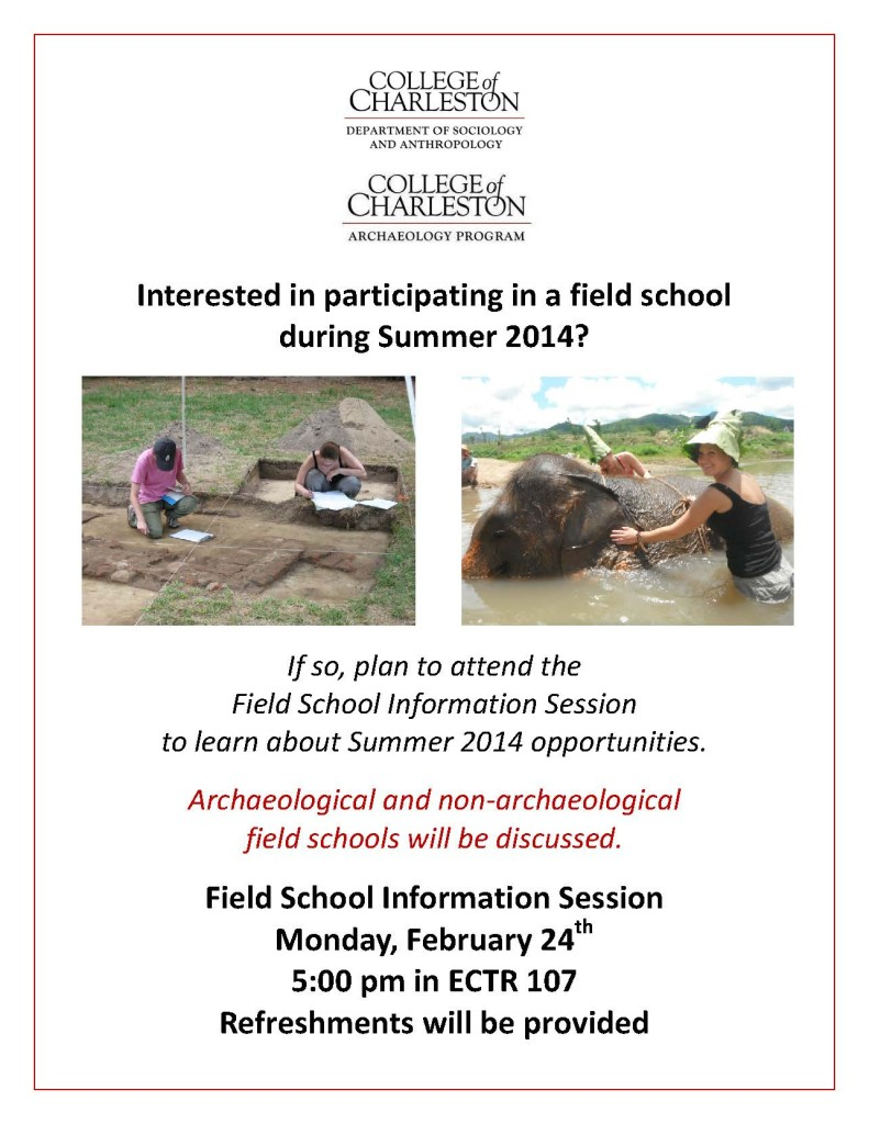 Field School Info Session Flyer