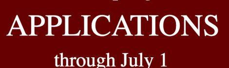 Apply through July 1!