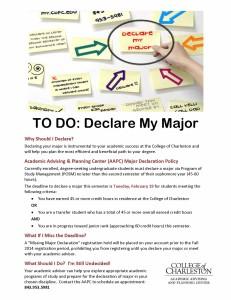 Declare Your Major Spring 2014