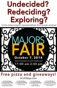 CofC Majors Fair 2014 flyer