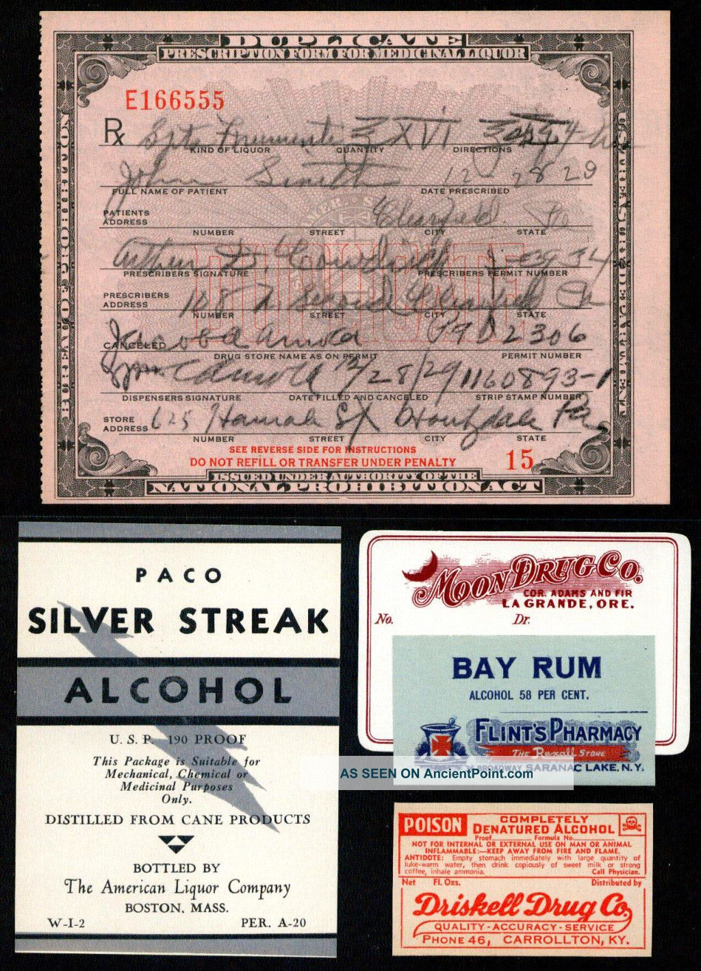 prohibition in the great gatsby a prescription for medicinal alcohol written in 1929 during the time of prohibition