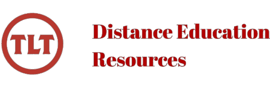 TLT's Distance Education Resources Blog