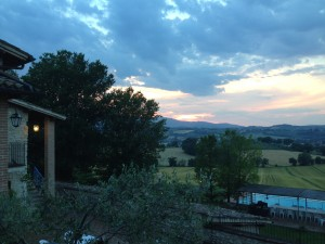 Sunset at the villa in Spoleto, IT