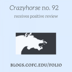 Evgeniya Monico's Review of Crazyhorse No. 92