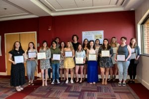 2019 English Day award winners and Sigma Tau Delta inductees