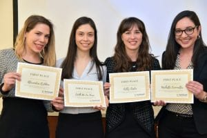 The winning team at the KMG Case Competition