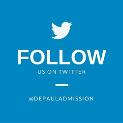 Follow Us @DePaulAdmission