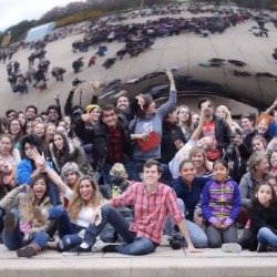 DePaul Student Creates Giant Family Photo