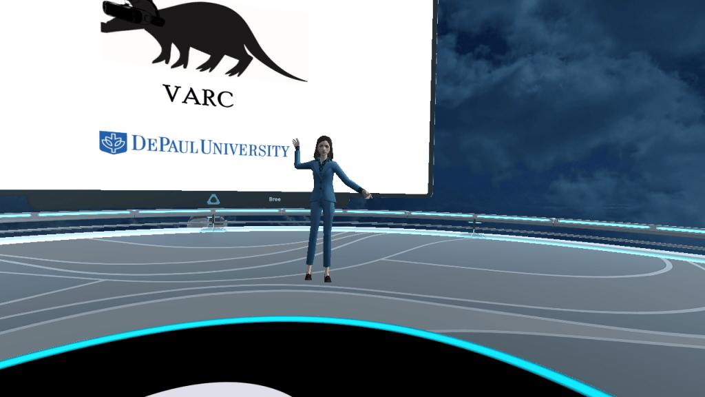 Bree Avatar in front of VARC logo