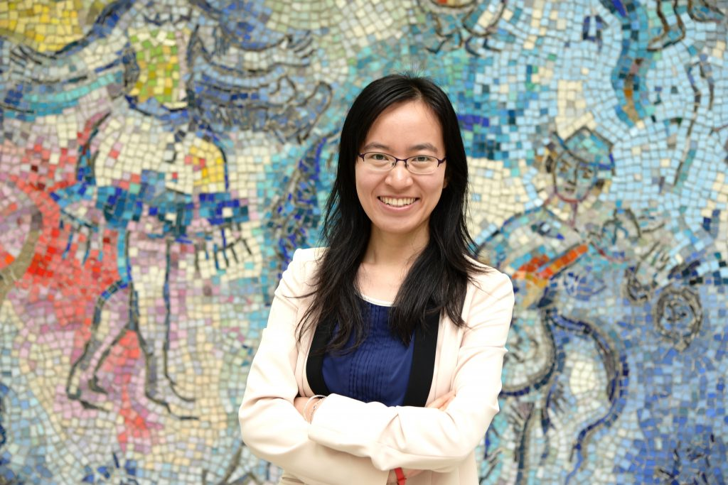 Joey Jiang (MS '13) credits DePaul's career services with helping her land a position in Chicago after graduation.