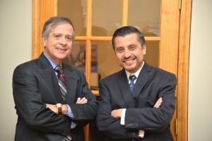 Alumni business partners Julio Rodriguez and Enrique Lopez.