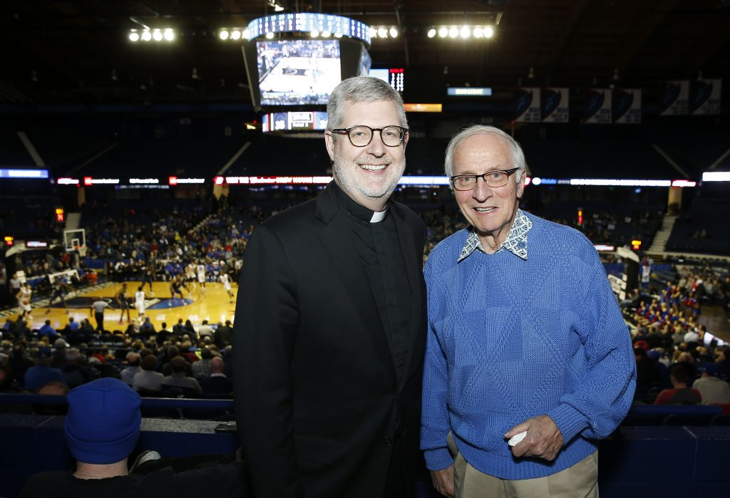 Rev. Dennis H. Holtschneider, C.M. and alumnus Tom Blasczyk