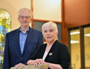 Faculty members Harold Welsch and Helen LaVan