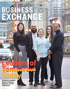 Cover of the spring/summer issue of Business Exchange magazine