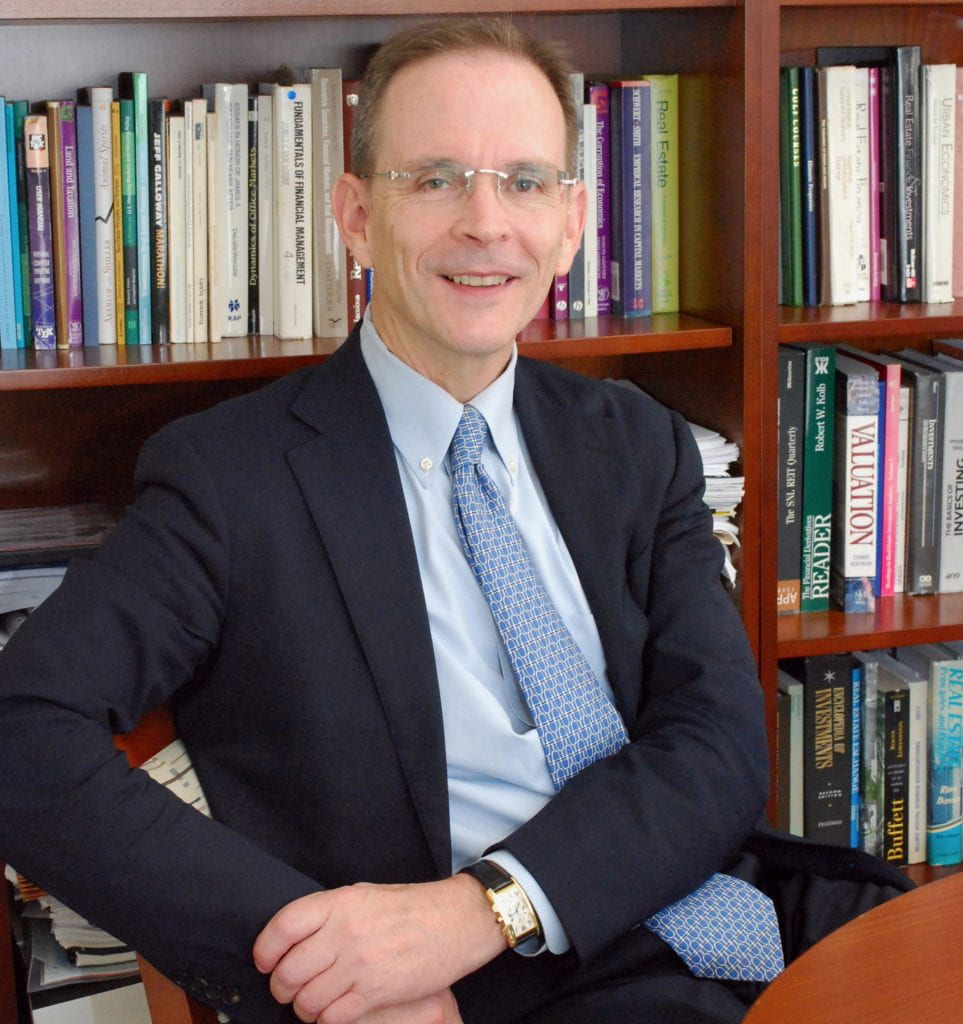 James D. Shilling, the George L. Ruff Endowed Chair in Real Estate Studies at DePaul University,