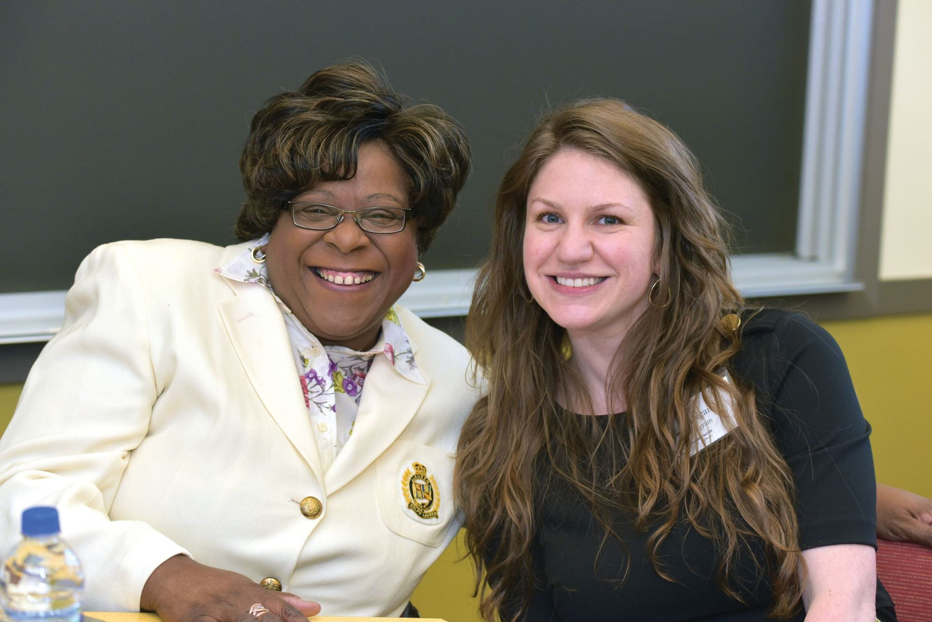 Committee member Valarie King-Bailey with Abigail Ingram