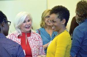 WEI committee members Carolyn Leonard (BUS '64) and Monika Black (CSH PhD '12)
