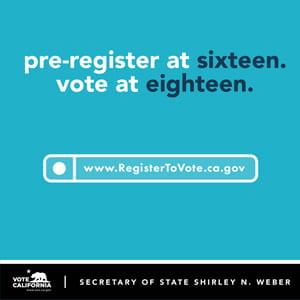 High School Voter Education Weeks: Sept. 20 - Oct. 1