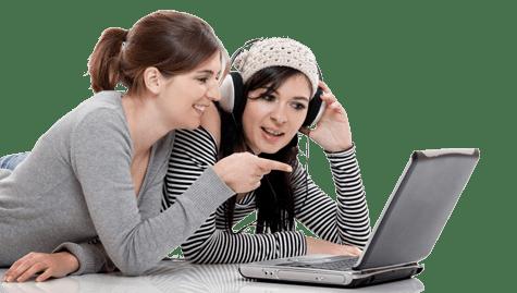 Photo of teens on laptop