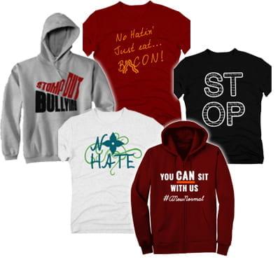 HEMS anti-bullying T-shirt designs