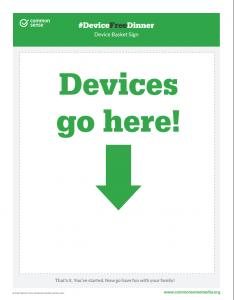#DeviceFreeDinner Family Starter Kit