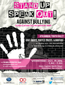2016 Speak Out Against Bullying youth rally