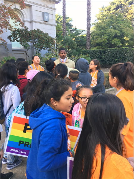 Ed Harris Students at Stand Up, Speak Out! Rally