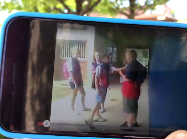 School fight on cell phone