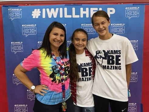 Katherine Albiani Middle School Students at ICanHelp Assembly